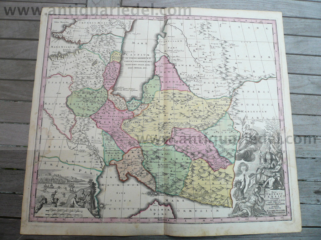 Imperii Persici, anno 1640, Seutter M., old colours