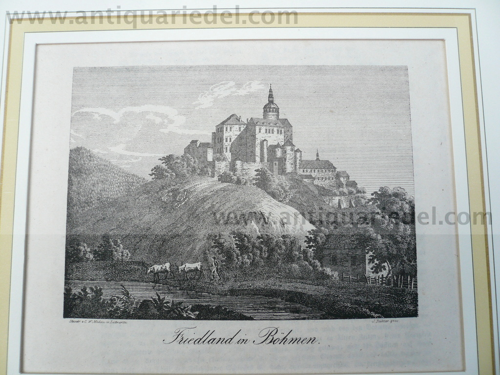 Friedland in Böhmen, anno 1836, Litho