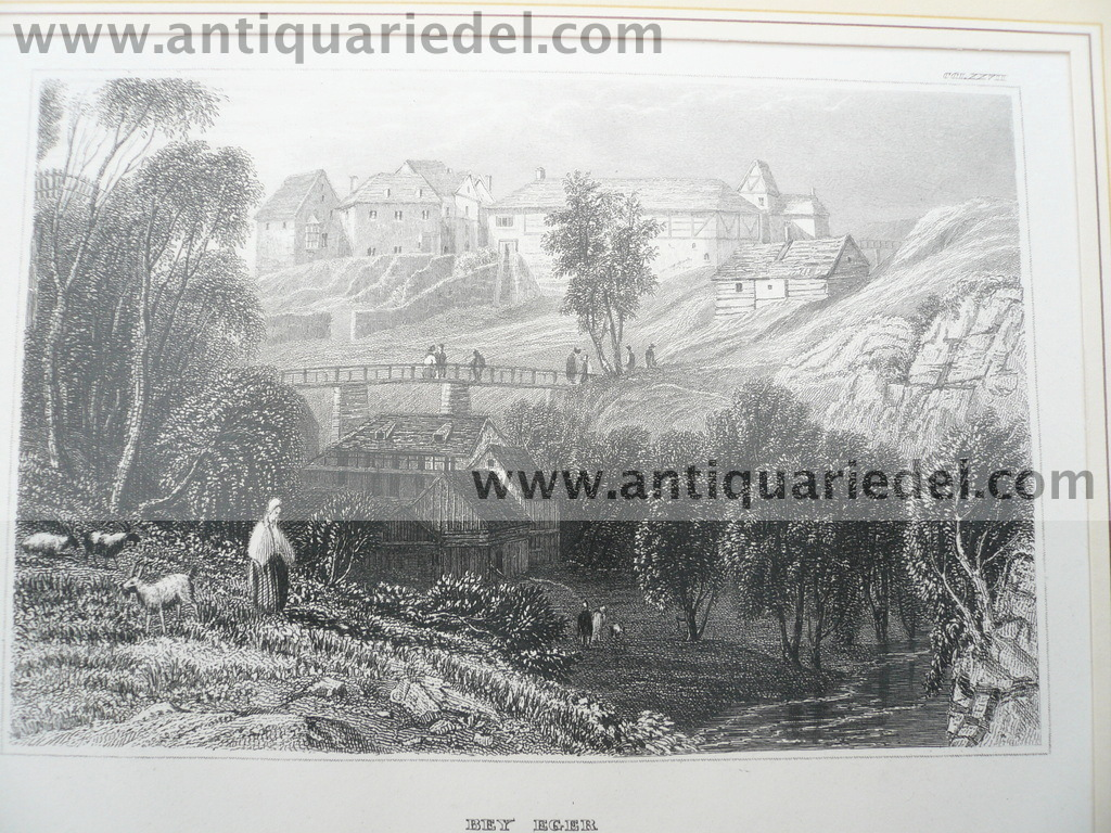 Eger, anno 1839, Stahlstich