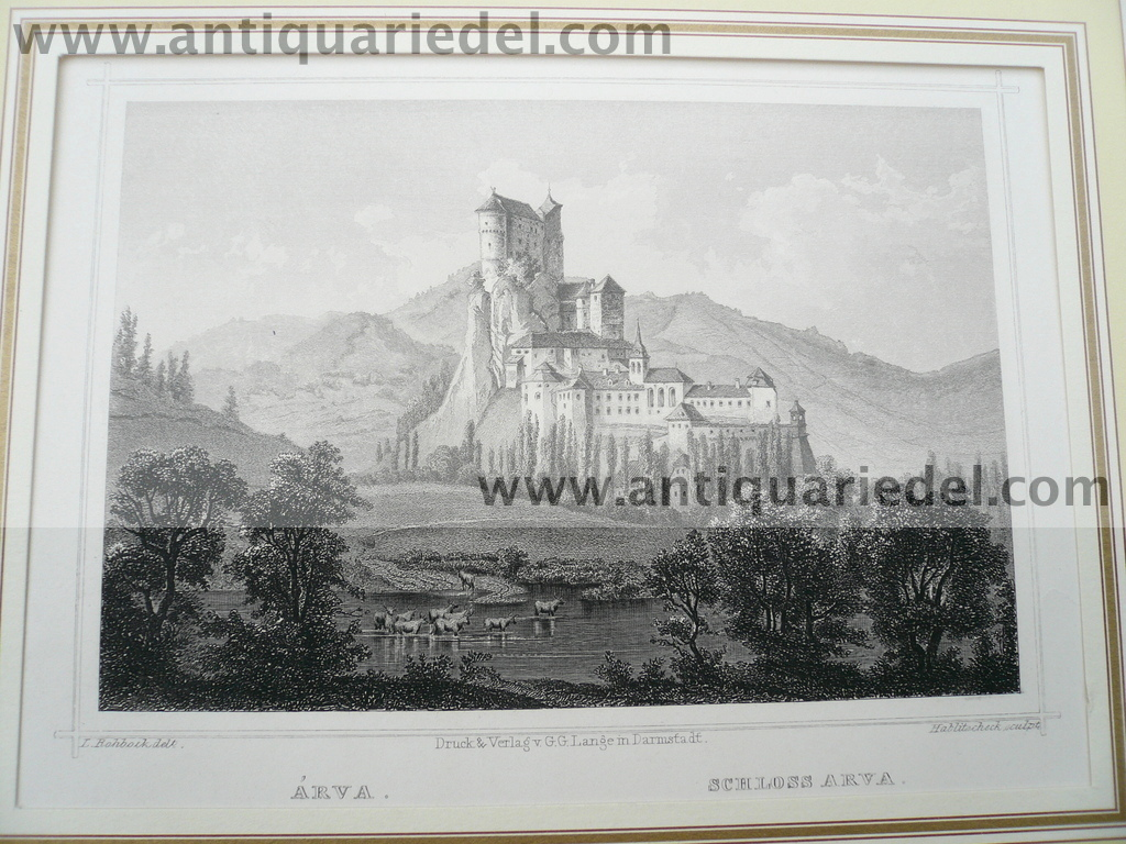 Arva, anno 1850, steelengraving