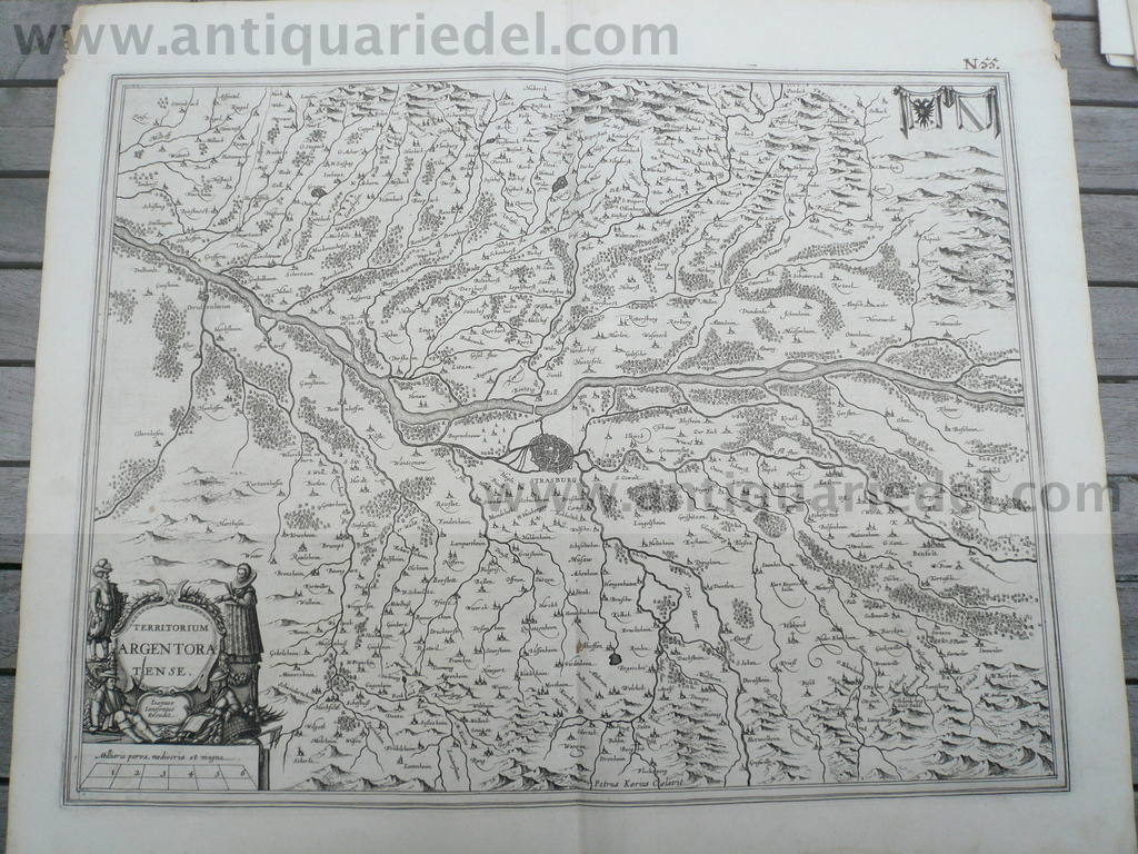 Alsace/Argentoratense, map, anno 1640, Janssonius, german editio