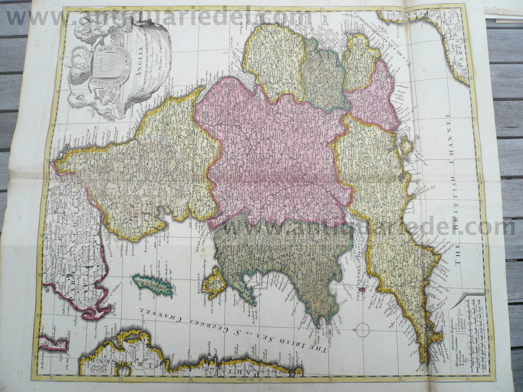 Anglia, map, P.Schenk, anno 1700, old colours