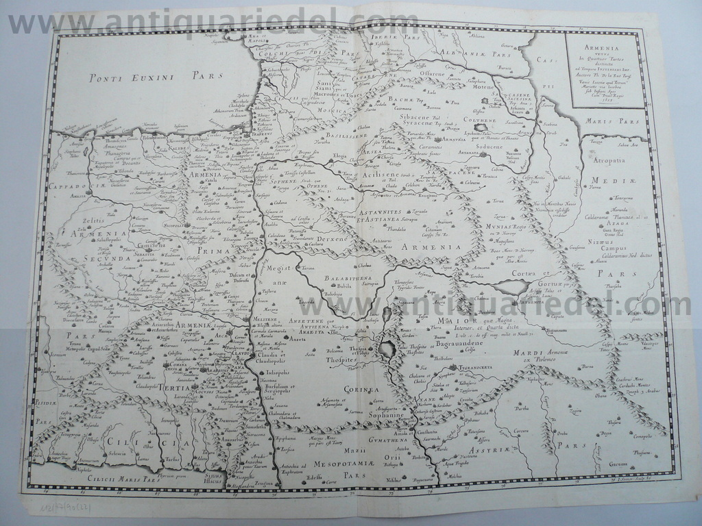 Armenia, map anno 1653, Mariette P., scarce map