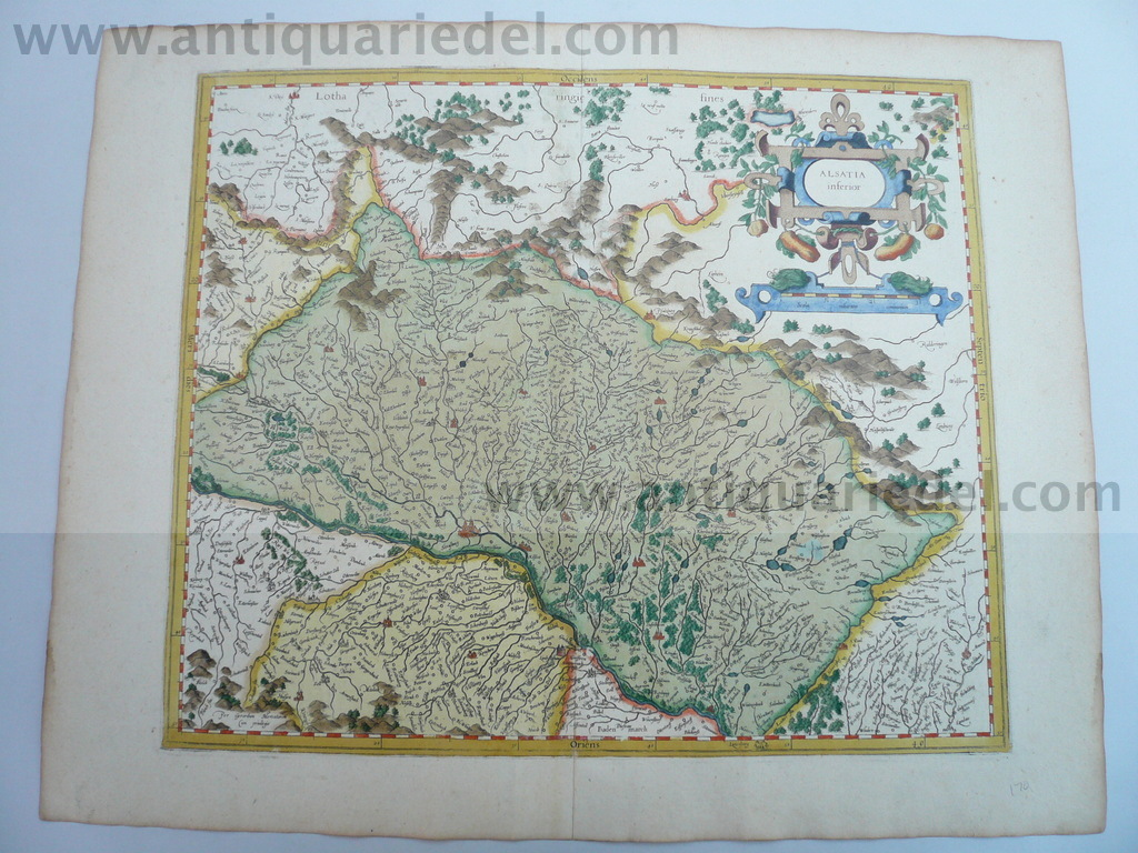 Alsatia inferior, map, anno 1610, Mercator G