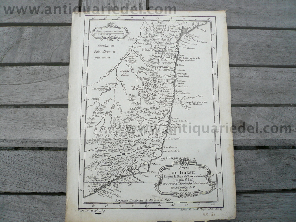 Brazil, map, Bellin anno 1760