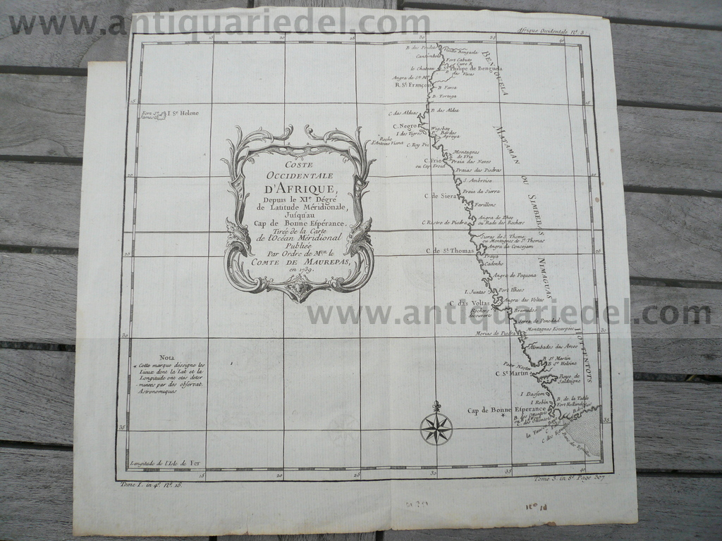 Southafrica/St.Helena, anno 1760, Bellin