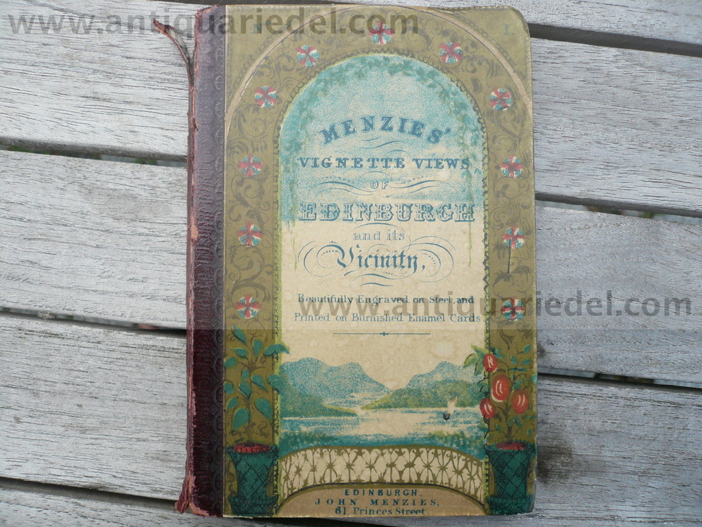 Menzies´vignette views, anno 1860, leporello