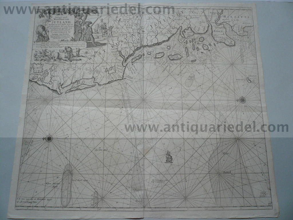 Jutland/North Frisian Islands, anno 1715, Van Keulen, map