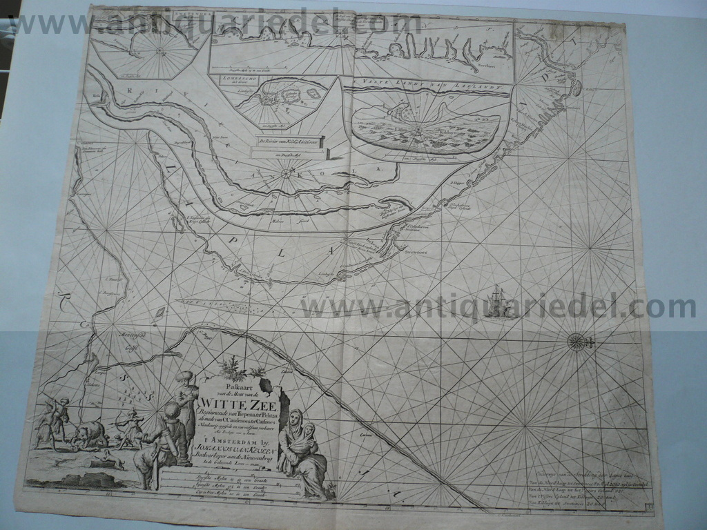 White Sea/Kola, map anno 1715, J. van Keulen