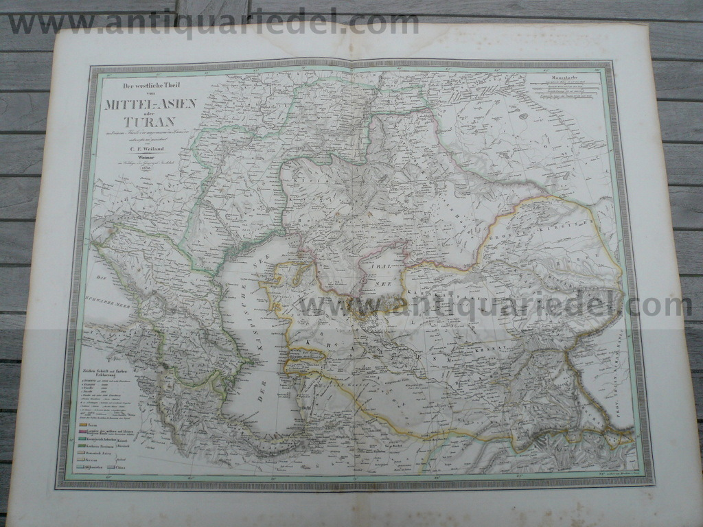 Middle East, map, Weiland anno 1838