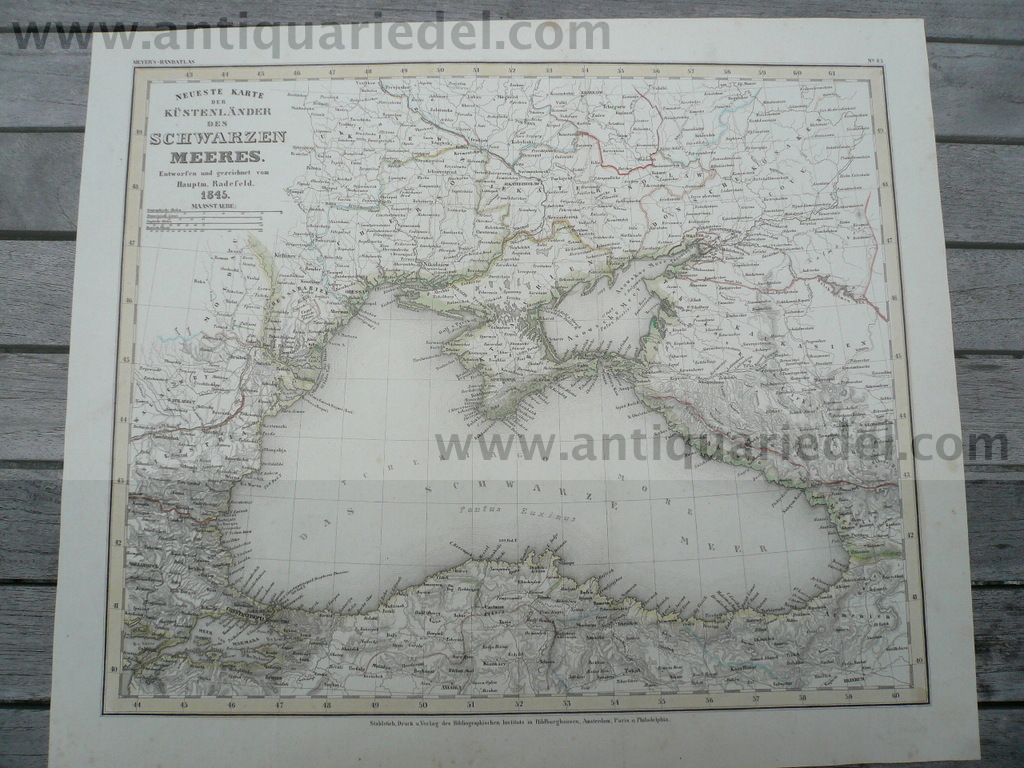 Black Sea, map, anno 1845