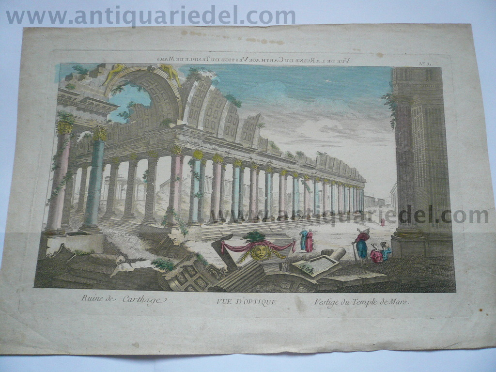 Carthago/Temple de Mars, anno 1780, optical print