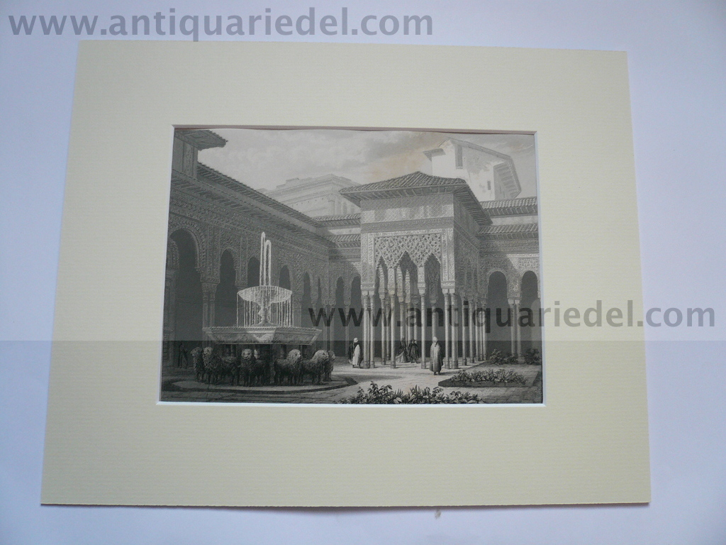 Alhambra, anno 1850, steelengraving