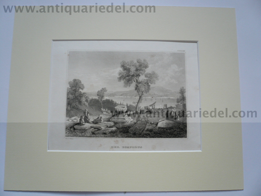 Bosphorus, anno 1850, steelengraving