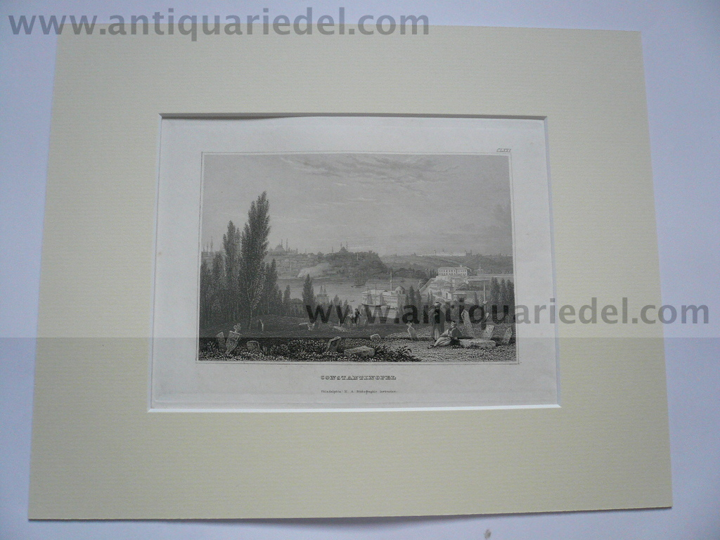 Constantionopel, anno 1850, steelengraving