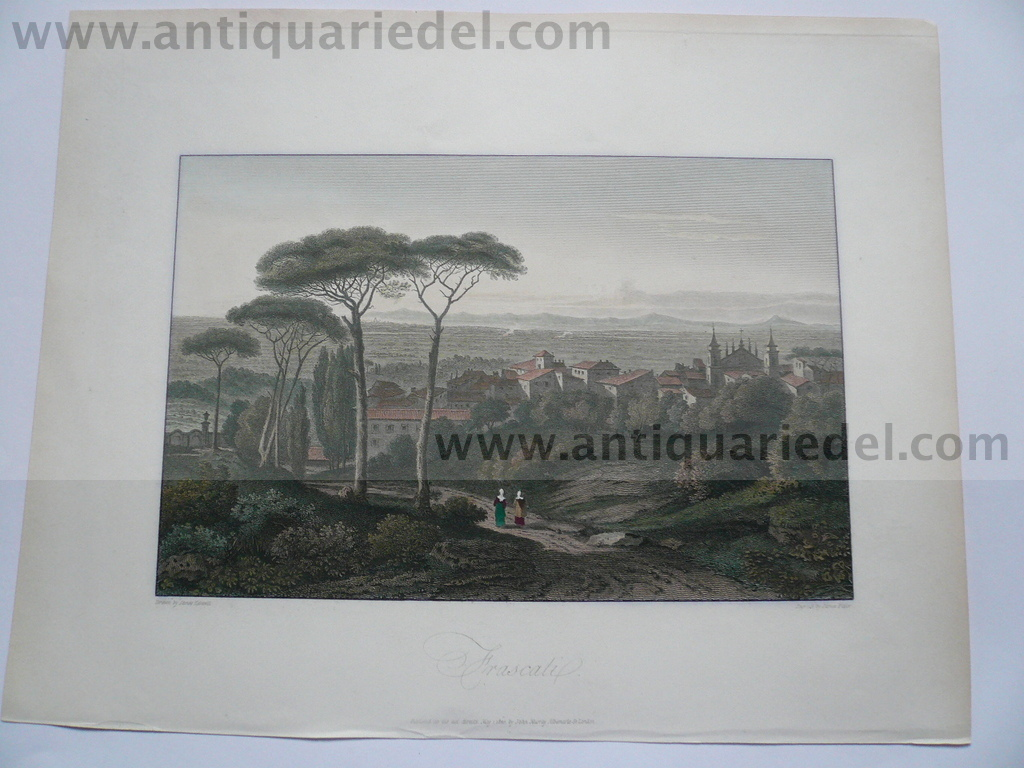 Frascati, etching, anno 1818, Hakewill James