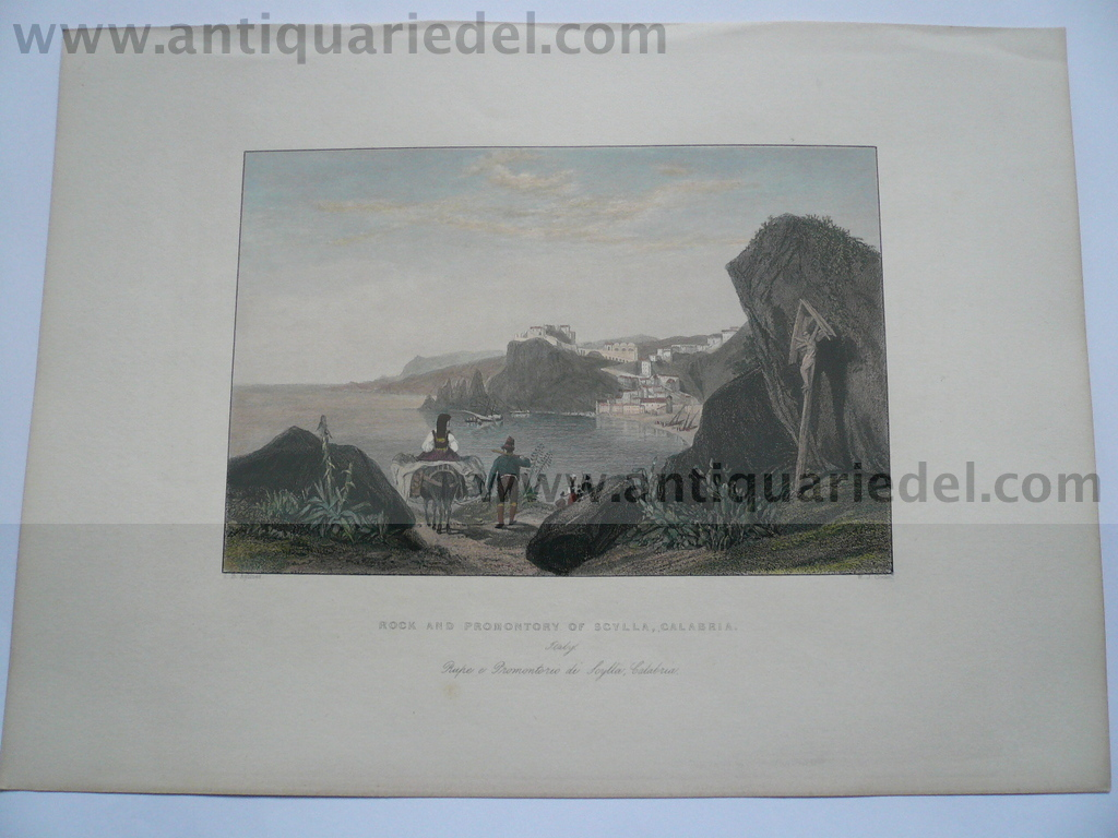 Scylla/Calabria, anno 1819, Hakewill J., etching