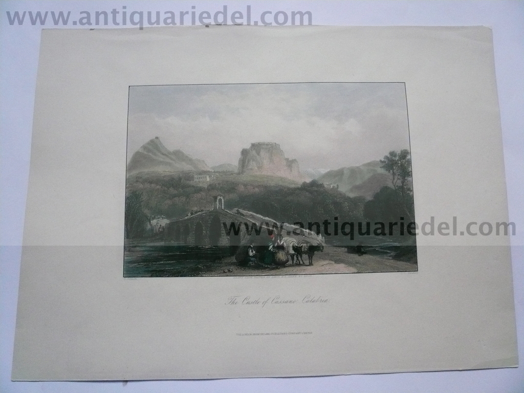 Cassano/Calabria, anno 1819, etching, Hakewill J.