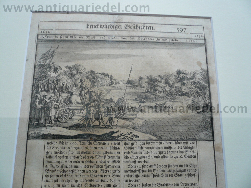 80-year war, battle anno 1632, Merian M., Theatrum II, 1650