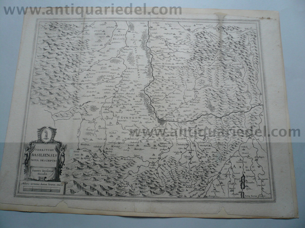 Basiliensis territory, map, anno 1640, Janssonius Jan