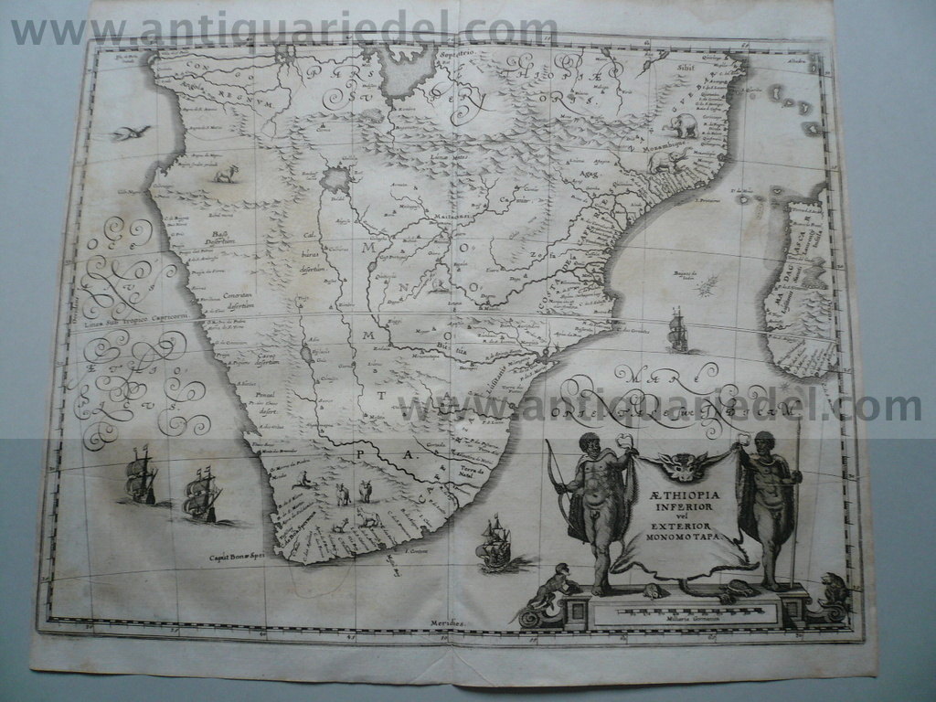Aethiopia Inferior, South Africa, anno 1646, Merian M.