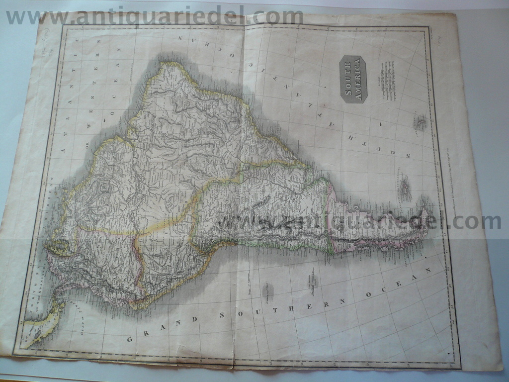 South America, anno 1814, generalmap, Thomson
