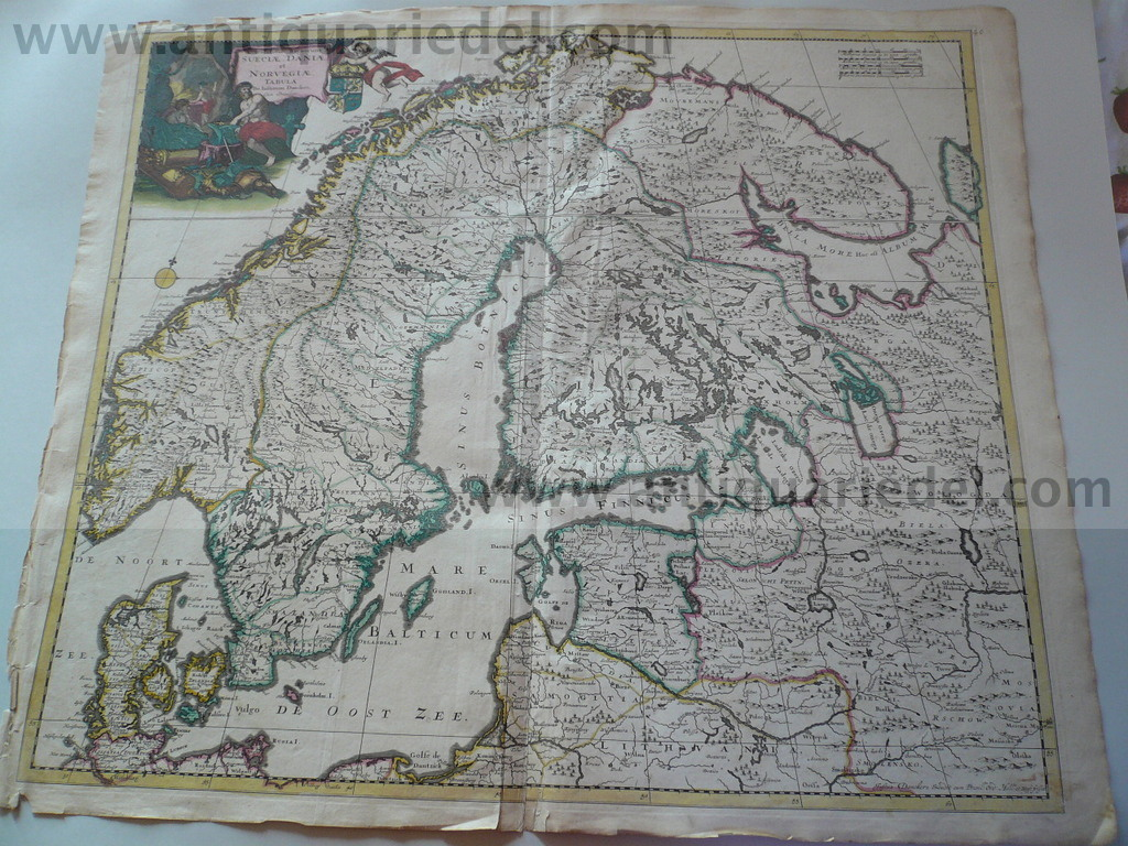Northern Europe, Russia, Baltic Sea, anno 1680, Danckerts Justus