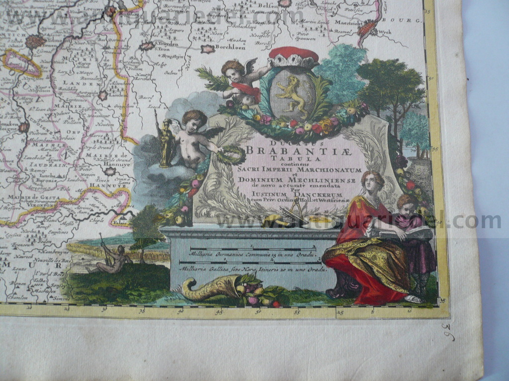 Brabantiae ducatus, map, anno 1680, Danckerts Justus, old colour