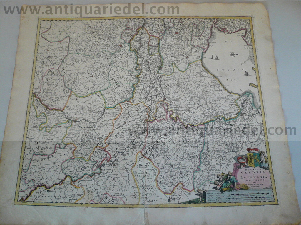 Geldria/Zutphania map, anno 1680, Danckerts Justus, scarce map