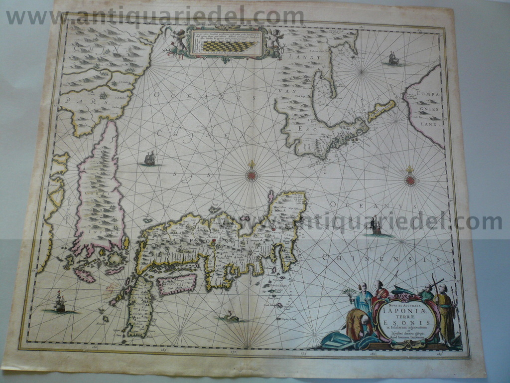 Japan/Korea, map, 1666, Janssonius J., old colours