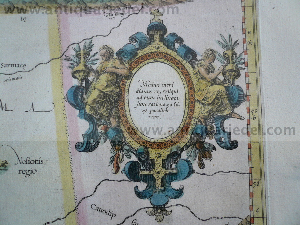 Asia II Tab., Mercator, 1605, Caucasus, Don, Wolga, map