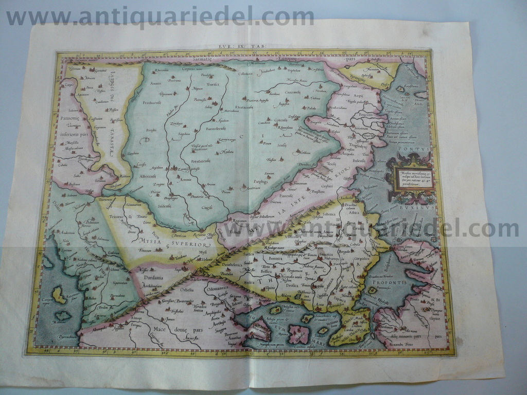 Europae Tabula IX, anno 1605, Mercator map, fine colours