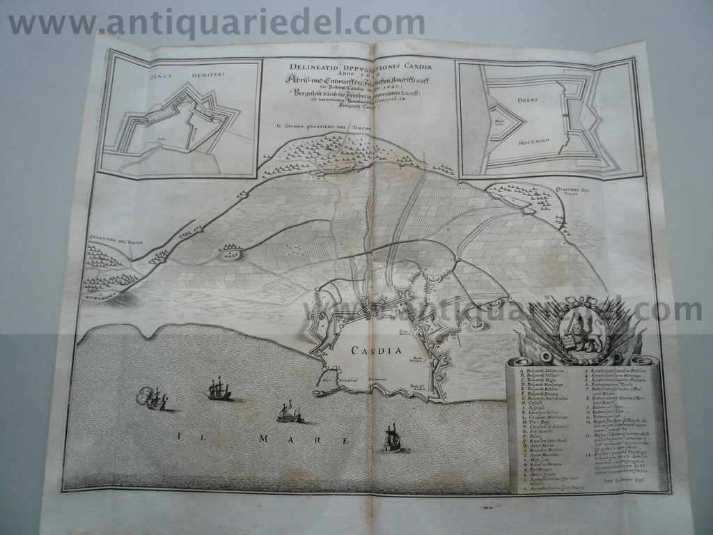 Heraklion/Candia, Siege of 1649, Merian 1652