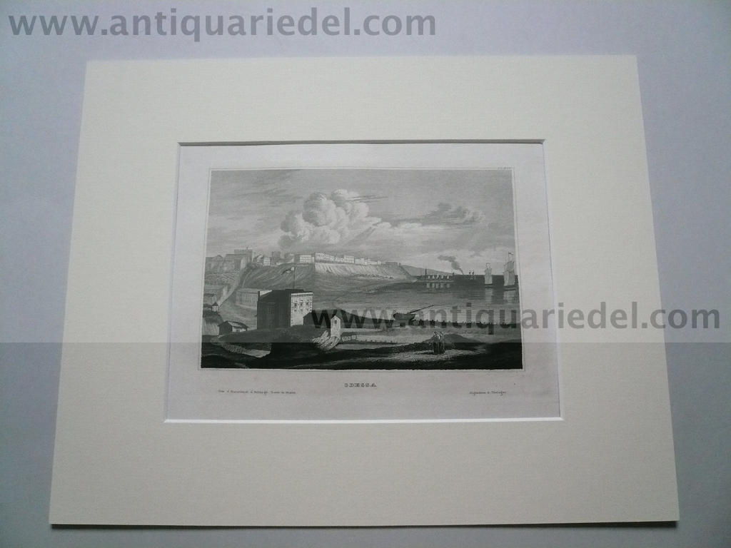 Odessa, steelengraving, anno 1840