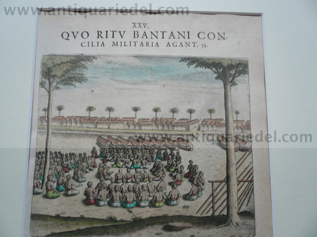 Indonesia, military council, Th.de Bry anno 1612