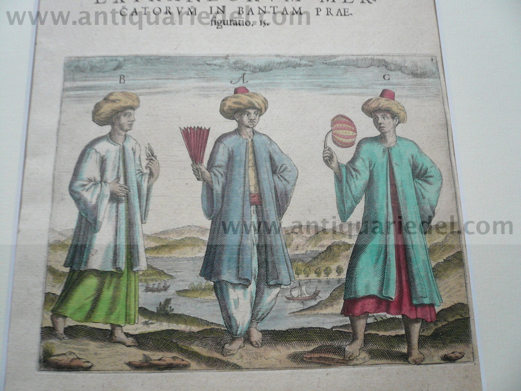 Banten/Java, anno 1612, Th. de Bry, copperengraving