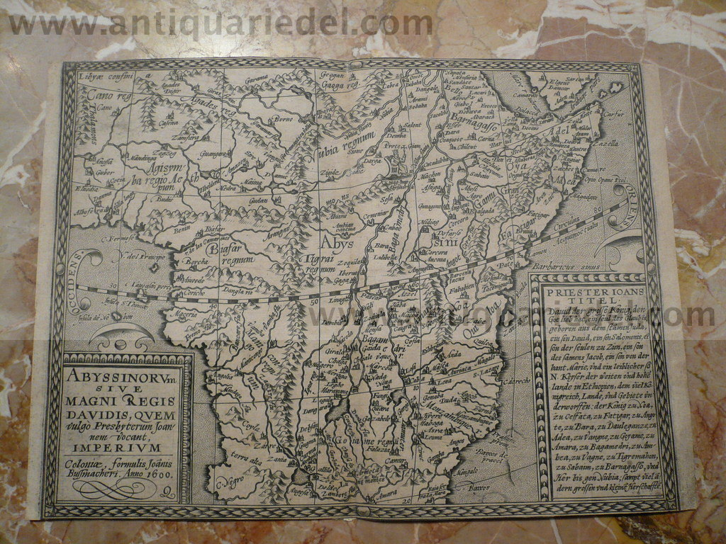 Abyssinorum, map, anno 1600, Bussemacher/Quad, scarce