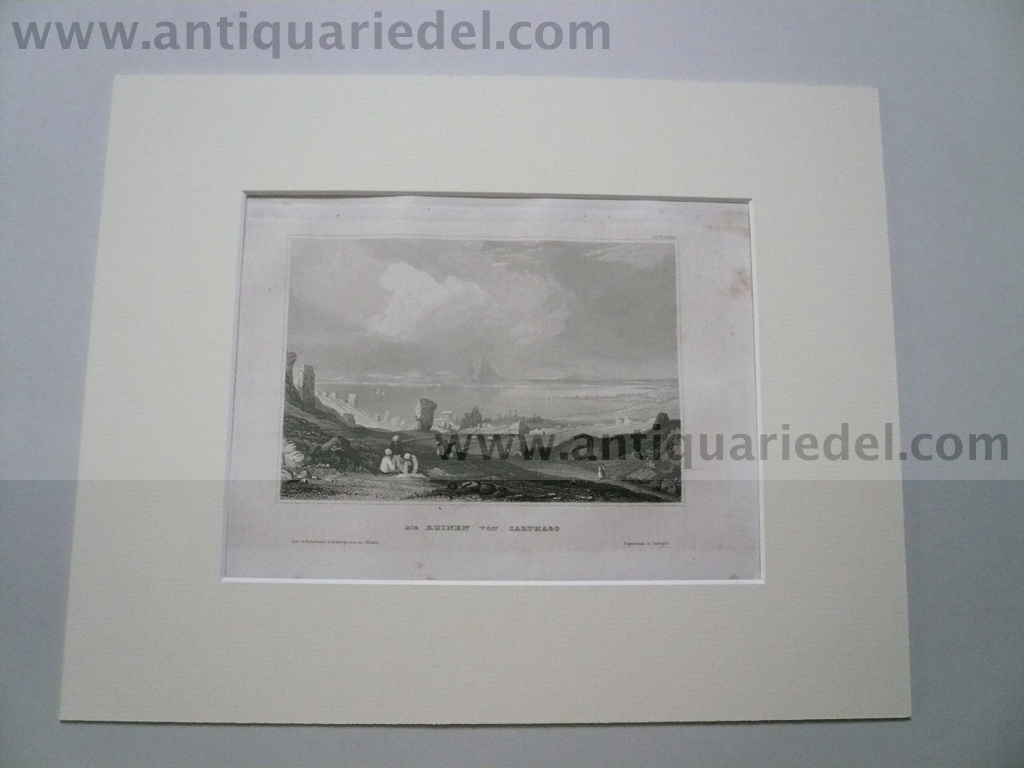 Carthago Ruins, anno 1850, steelengraving