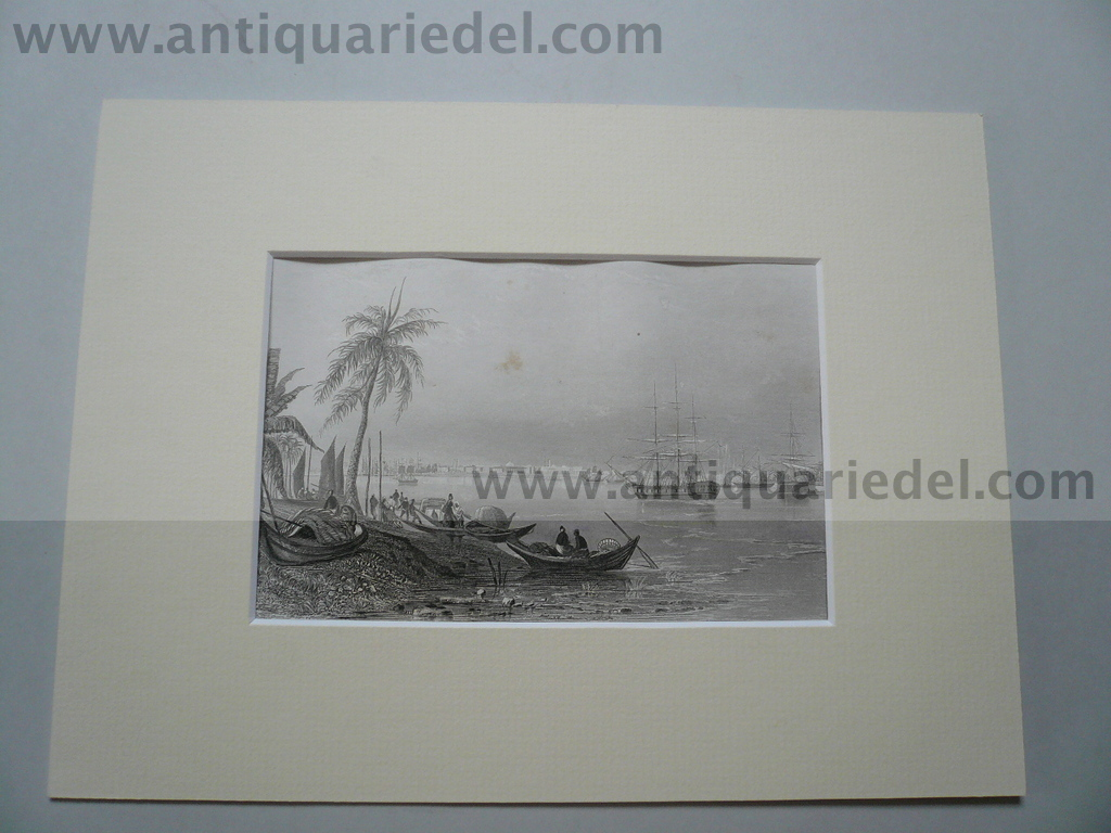 Calcutta, anno 1850, steelengraving