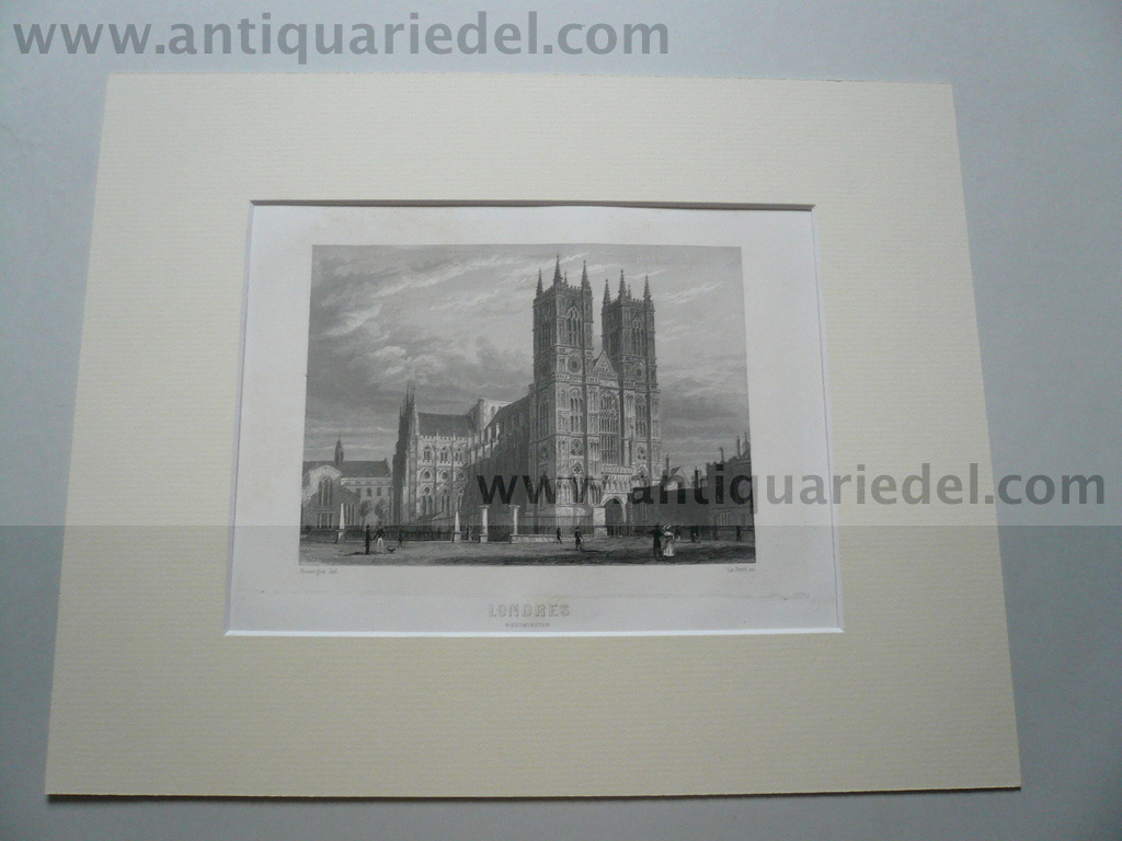 London-Westminster, anno 1840, steelengraving