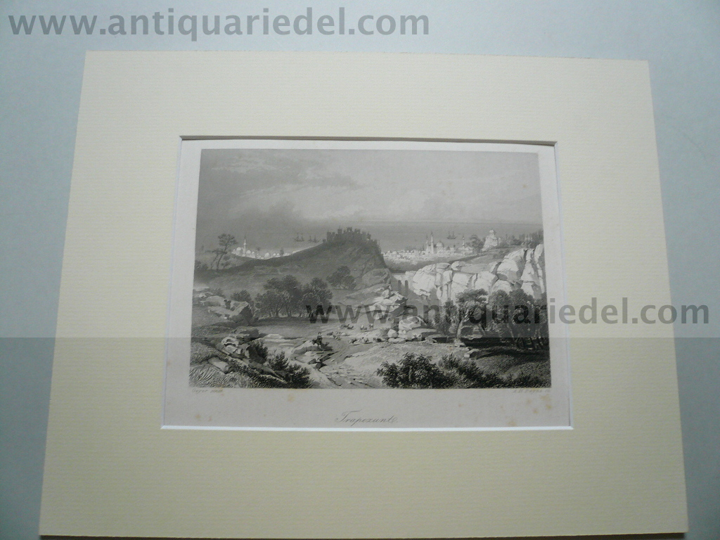 Trabzon/Trapezunt, anno 1850, Steelengraving