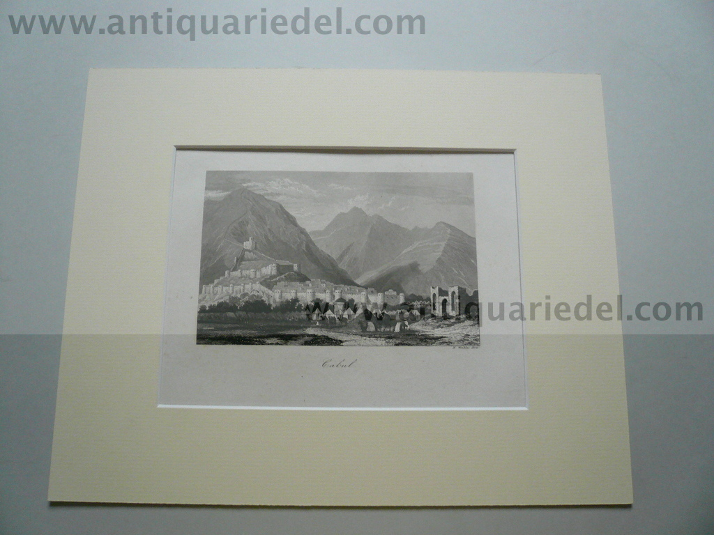 Kabul, anno 1850, steelengraving