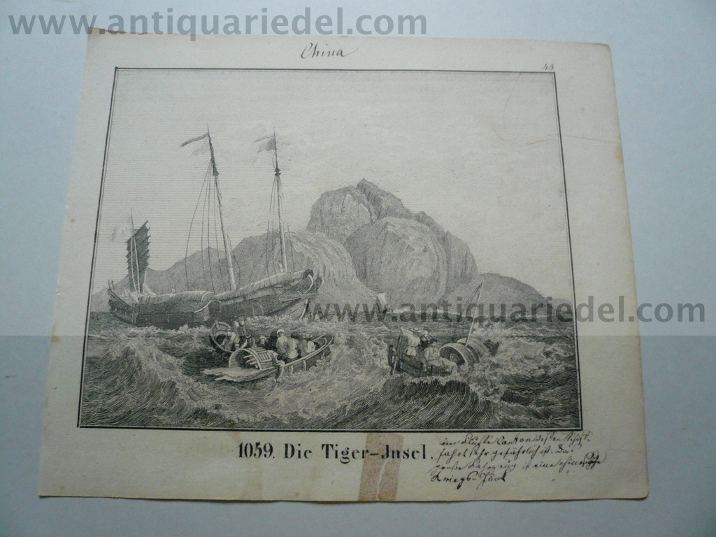 China, anno 1830, lithograph