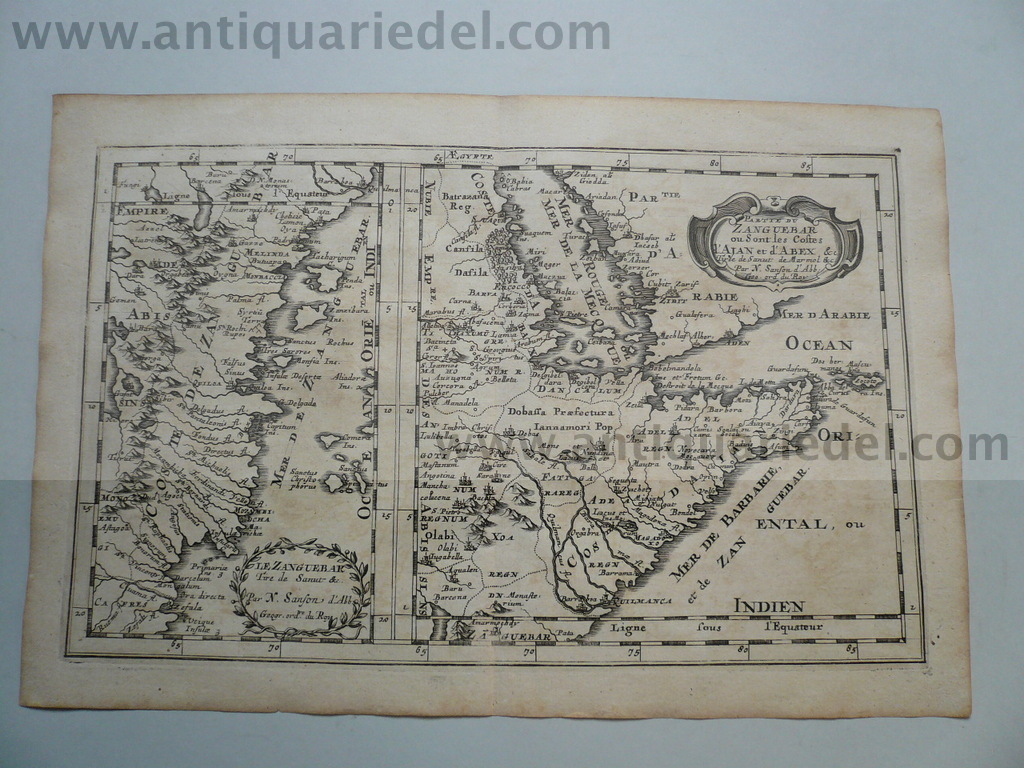 Zanzibar/East Africa/Red Sea, anno 1660, Sanson N.