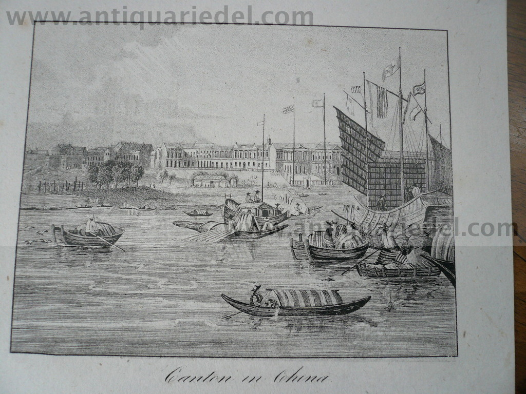 Canton in China, anno 1830, lithograph
