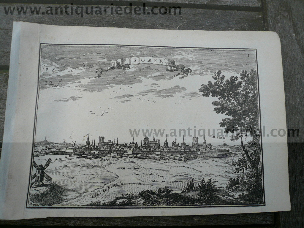 Saint Omer, anno 1668, Panorama view, Beaulieu