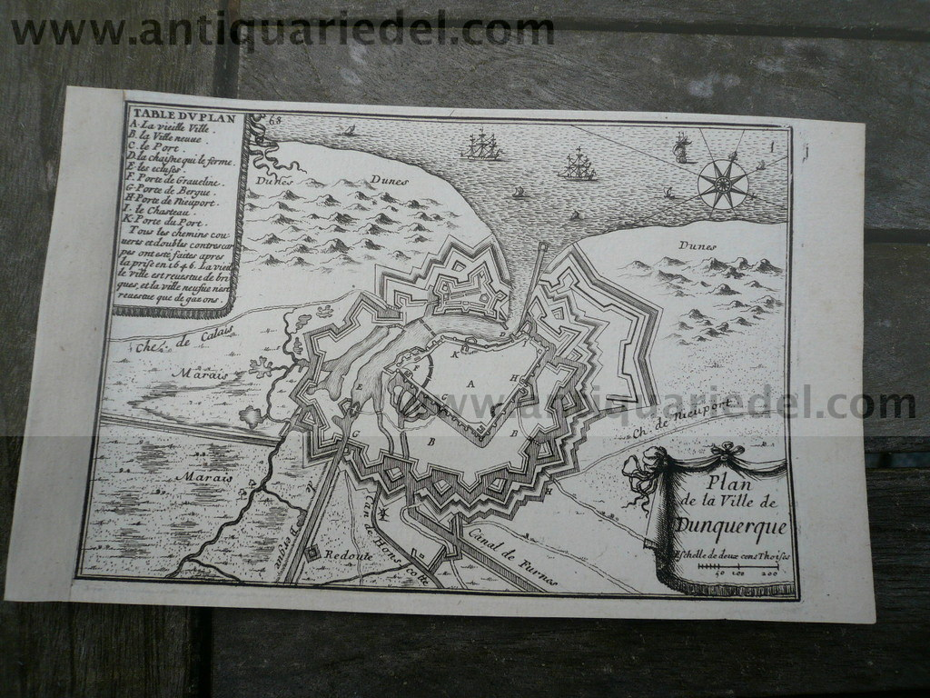 Plan of Dunquerque, anno 1668, Beaulieu