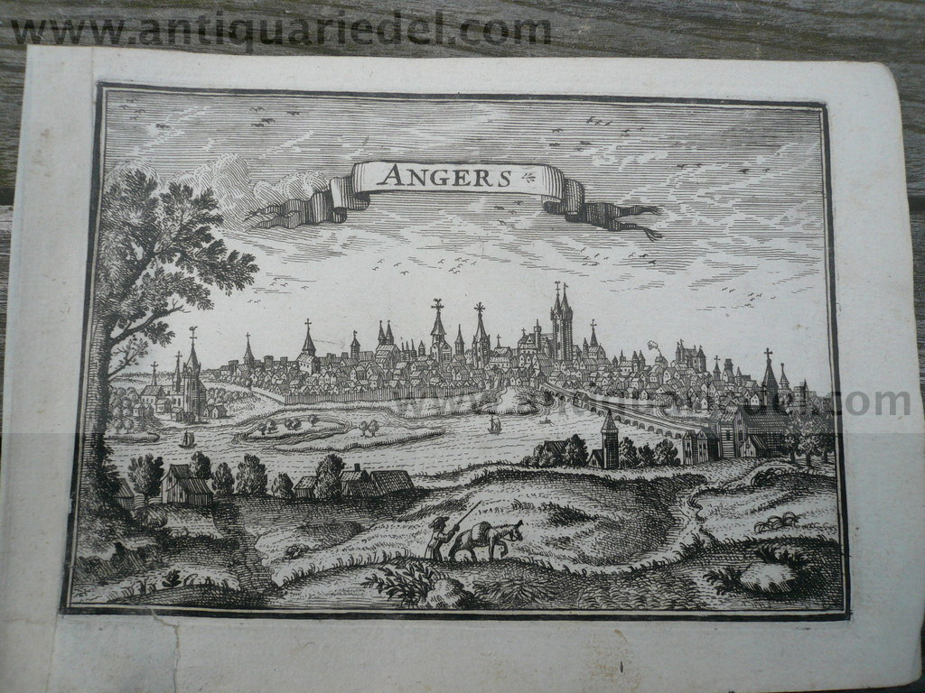 Angers, anno 1668, Beaulieu, copperengraving
