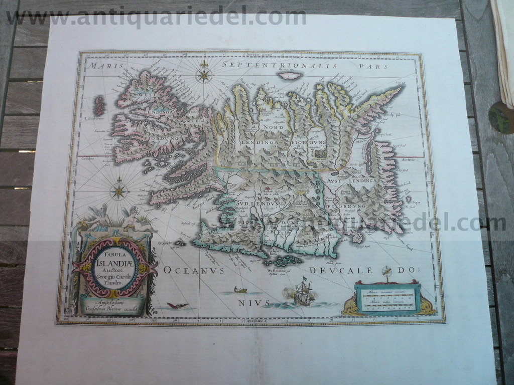 Tabula Islandiae, map, Blaeu J., Atlas Major, anno 1662