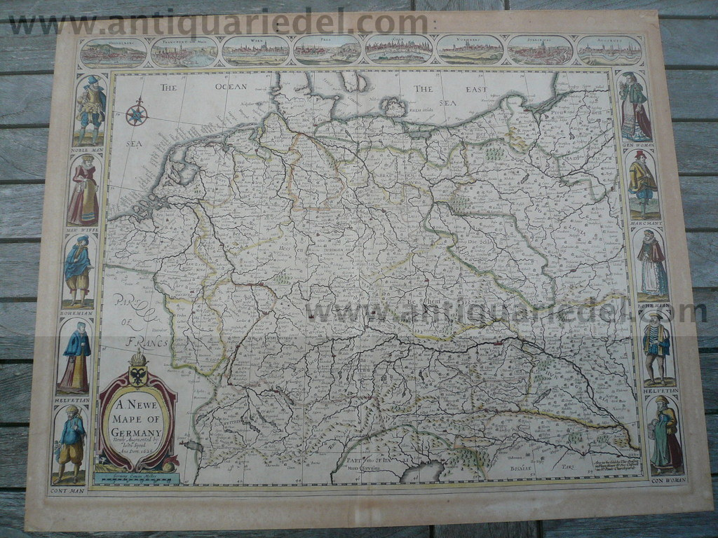 A Newe Mape of Germany, Speed, anno 1626